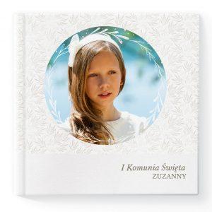 Fotoksiążka i fotoalbum kwadrat - szablon Moja Pierwsza Komunia