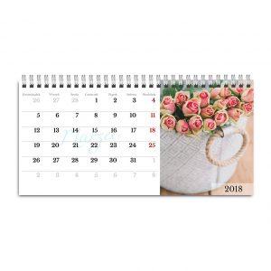 Fotokalendarz biurkowy poziomy stojący. Zamów online.