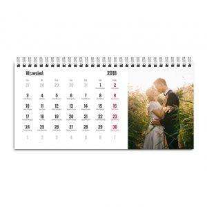 Kalendarz biurkowy stojący pozomy - dodaj własne zdjęcia