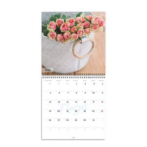 Foto kalendarz ścienny rozkładany - gotowe szablony online