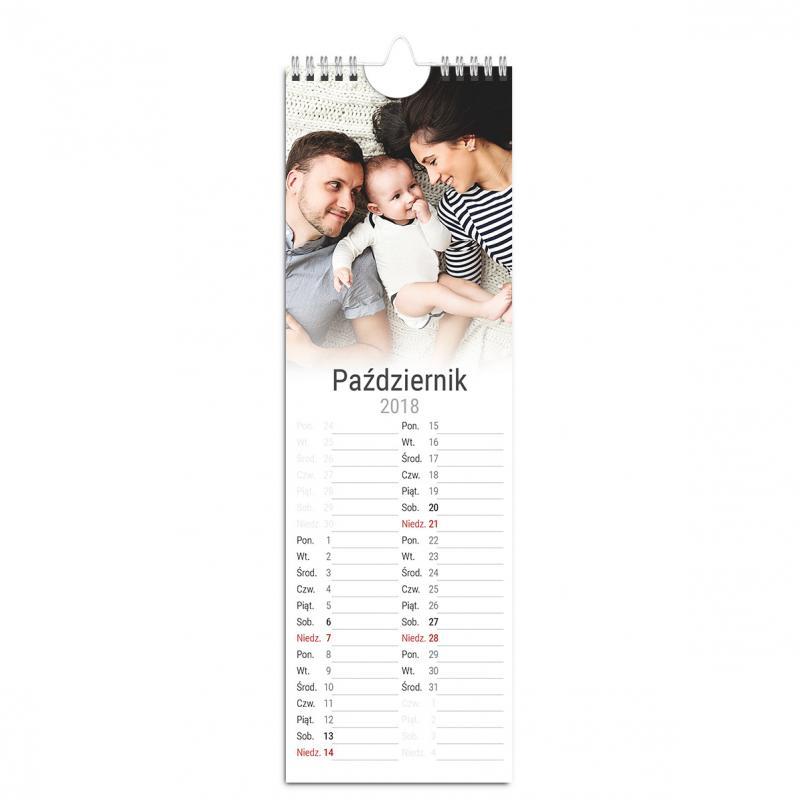 Fotokalendarz Rodzinny w wyjatkowym formacie z miejscem na notatki