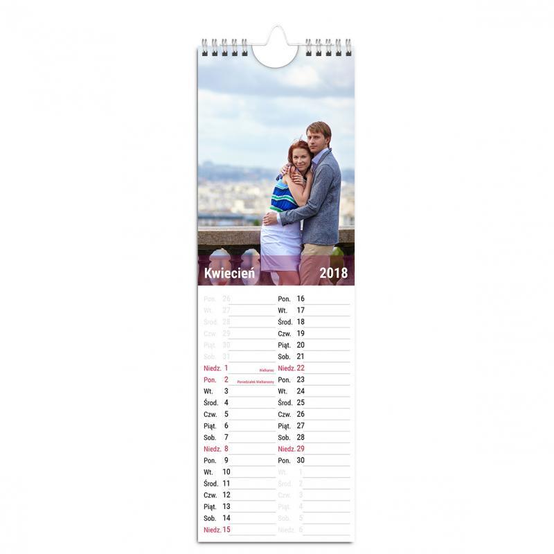 Fotokalendarz ścienny kuchenny z miejscem na notatki - szablon online