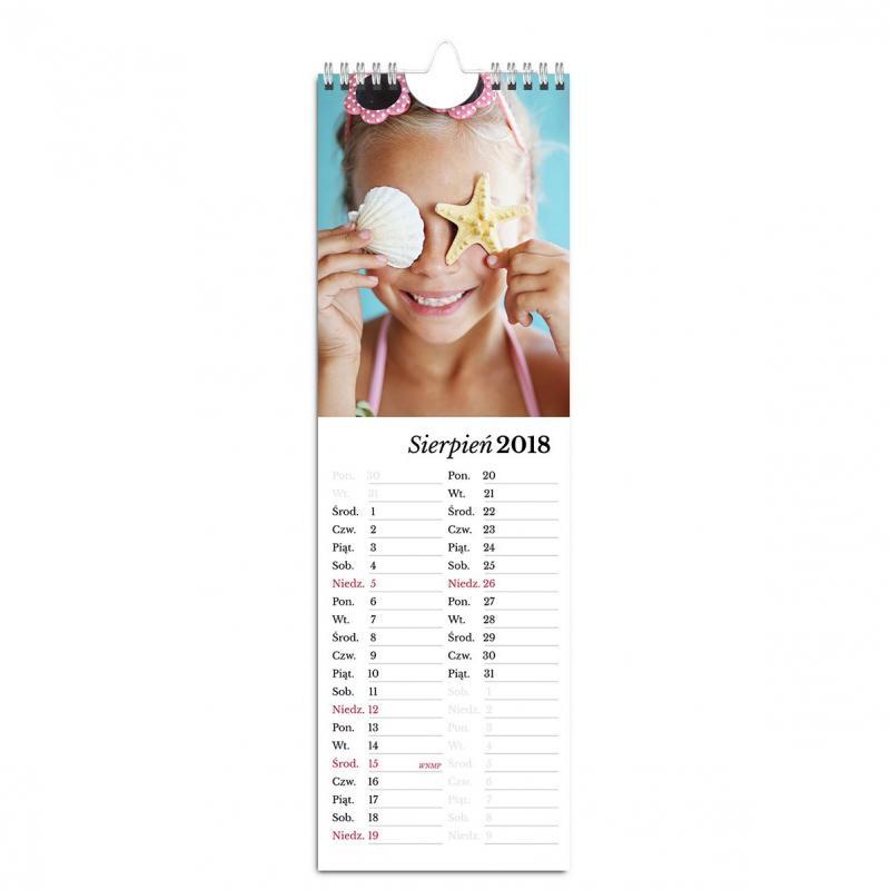 Fotokalendarz ścienny kuchenny - szablon online Klasyczny Biały - ze zdjęciami Twoich Dzieci