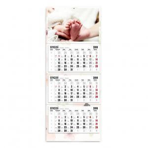 kalendarz trójdzielny w wersji kwiatuszkowej