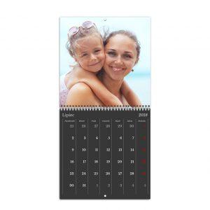 Fotokalendarz online rozdkładany szablon Klasyczny Czarny