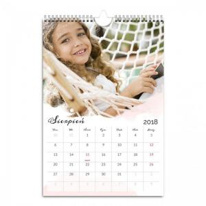 Fotokalendarz A3 A4 gotowy szablon Pełen wspomnień - z zdjęciami Twoich najbliższych