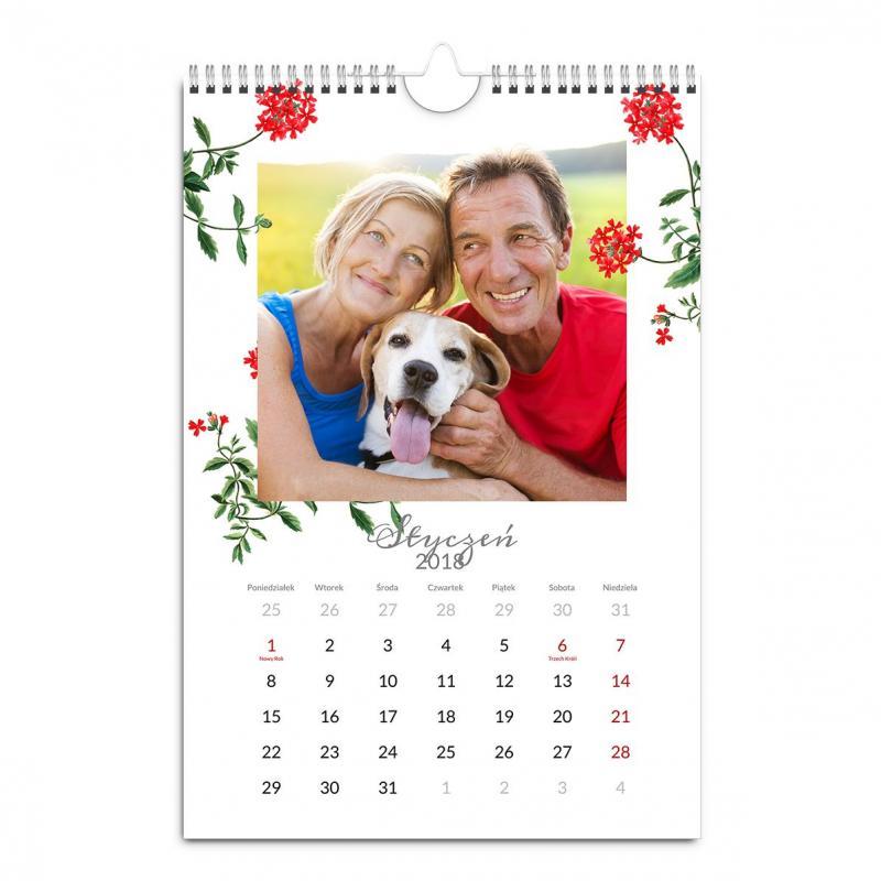 Fotokalendarz A3 A4 z własnymi zdjęciami - prezent dla Dziadków