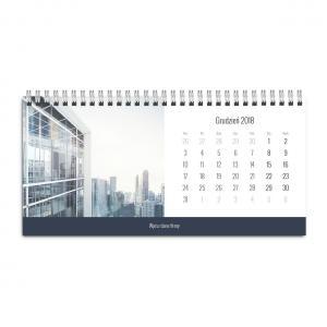 kalendarz biurkowy ze zdjęciem szablon biznesowy