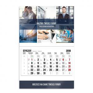 kalendarz jednodzielny szablon biznesowy
