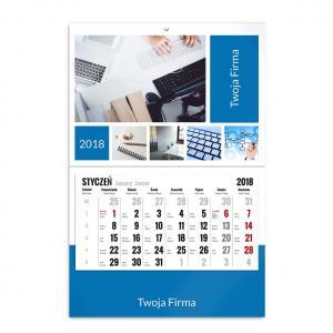 kalendarz jednodzielny szablon firmowy