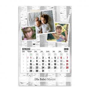 kalendarz jednodzielny szablon nasze zdjęcia
