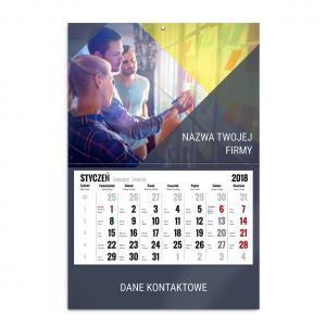 kalendarz jednodzielny szablon nowoczesna firma
