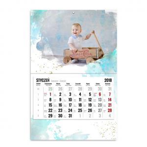 kalendarz jednodzielny szablon pełen wspomnień