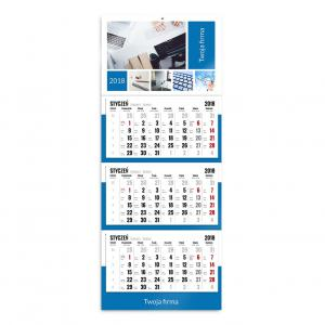 kalendarz trójdzielny szablon firmowy
