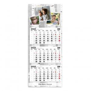 Kalendarz trójdzielny szablon nasze zdjęcia