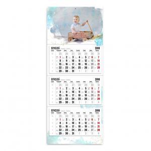 kalendarz trójdzielny szablon pełene wspomnień