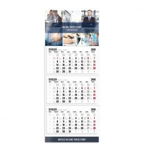 kalendarz trójdzielny z głowką szablon biznesowy