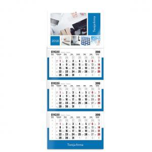 kalendarz trójdzielny z główką szablon firmowy