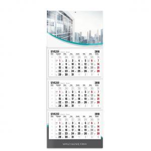 kalendarz trójdzielny z główką szablon mój biznes