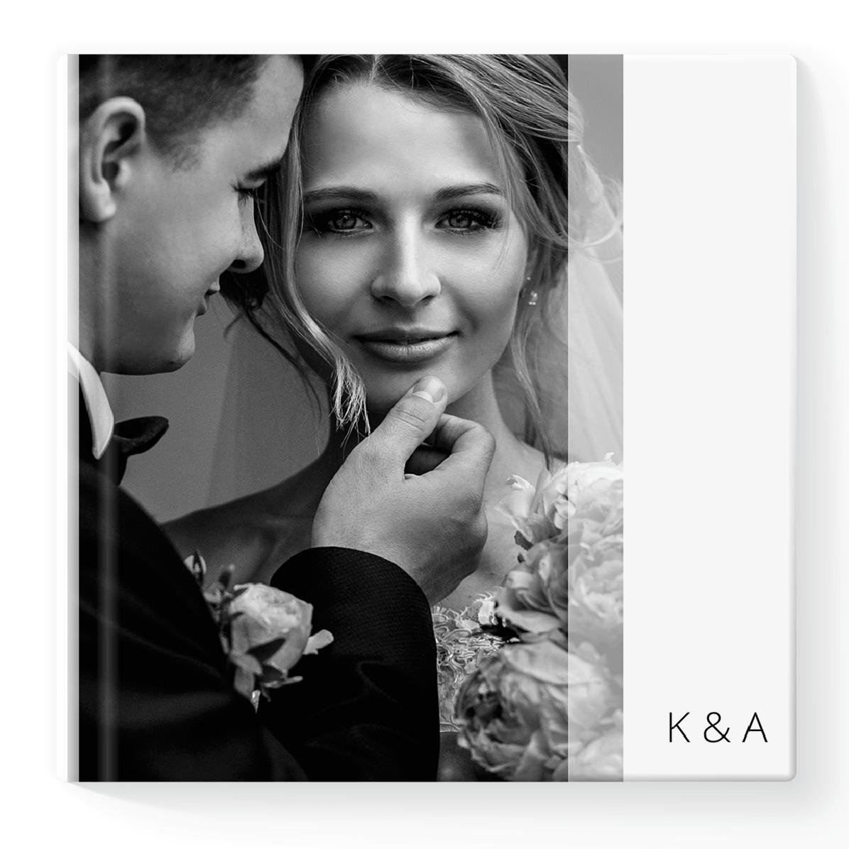 Fotoksiążka z Wyjątkowego Dnia Waszego Ślubu -kwadrat szablon Pure Wedding