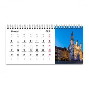 Kalendarz biurkowy poziomy z fotografiami Poznania