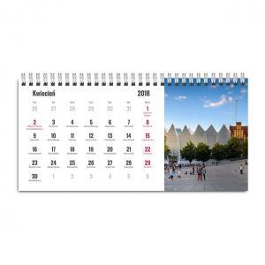 Kalendarz biurkowy poziomy z fotografiami Szczecina