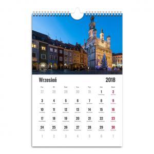 Kalendarz ścienny A3 z fotografiami Poznania