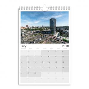Kalendarz ścienny A3 pionowy z fotografiami Poznania