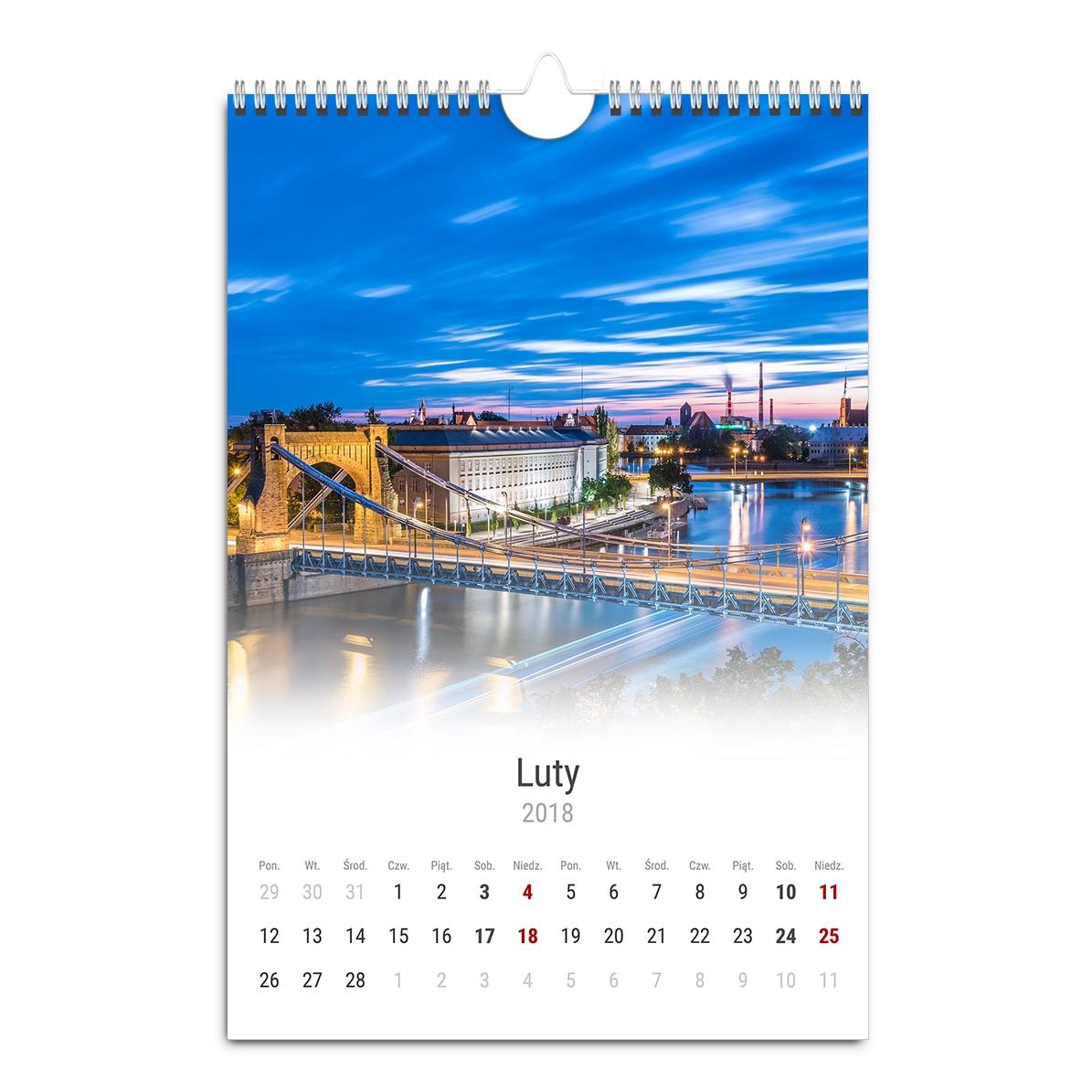 Kalendarz ścienny A3 pionowy z fotografiami Wrocławia