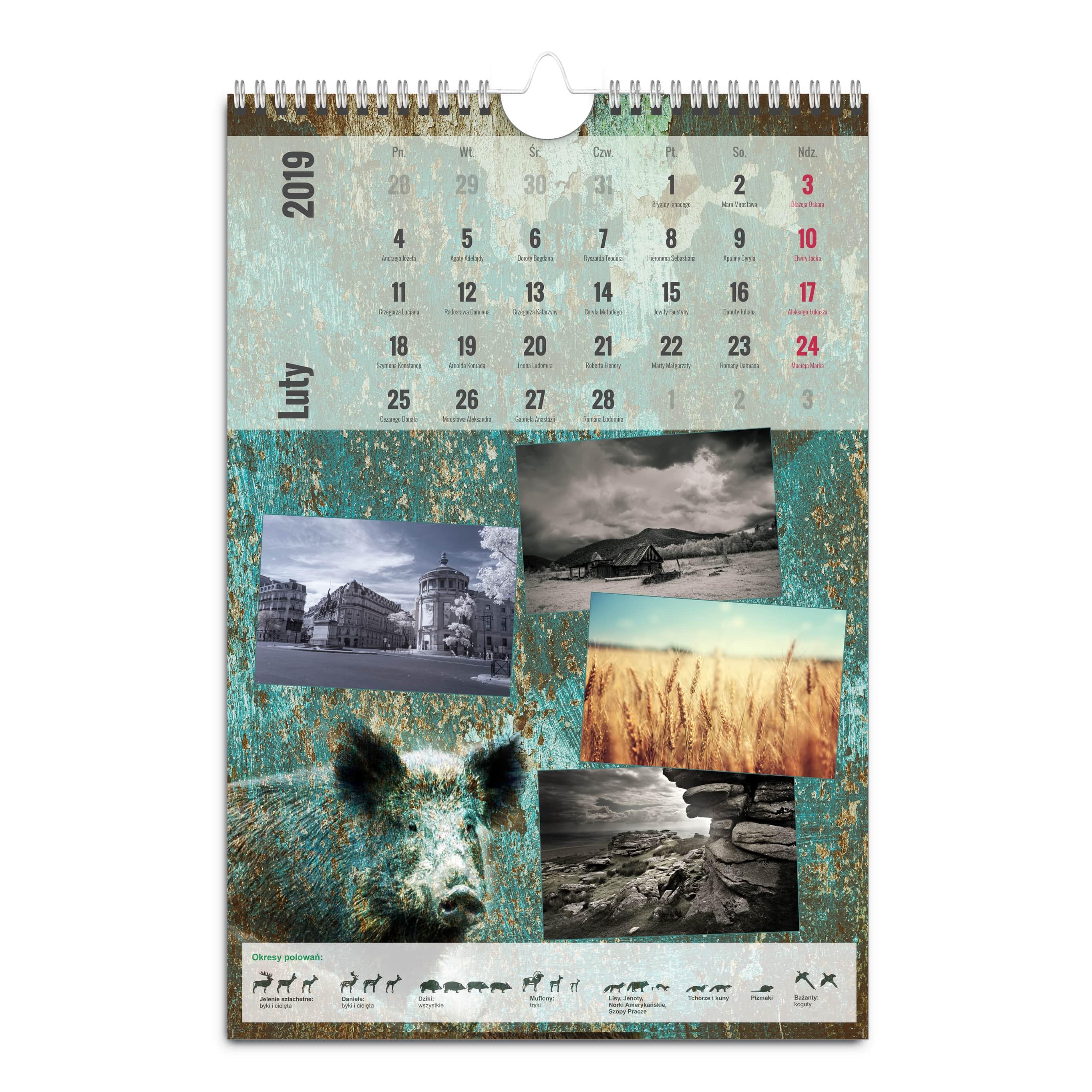 kalendarz basic A3 pion mockup-min